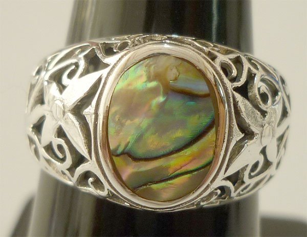 23.00 ctw Multi color Ring .925 Sterling Silver