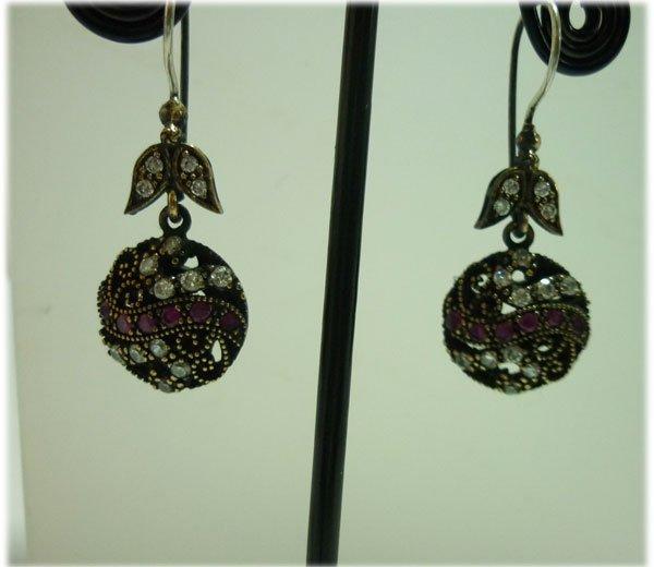 38.00 CTW Turkish earring .925 STERLING SILVER