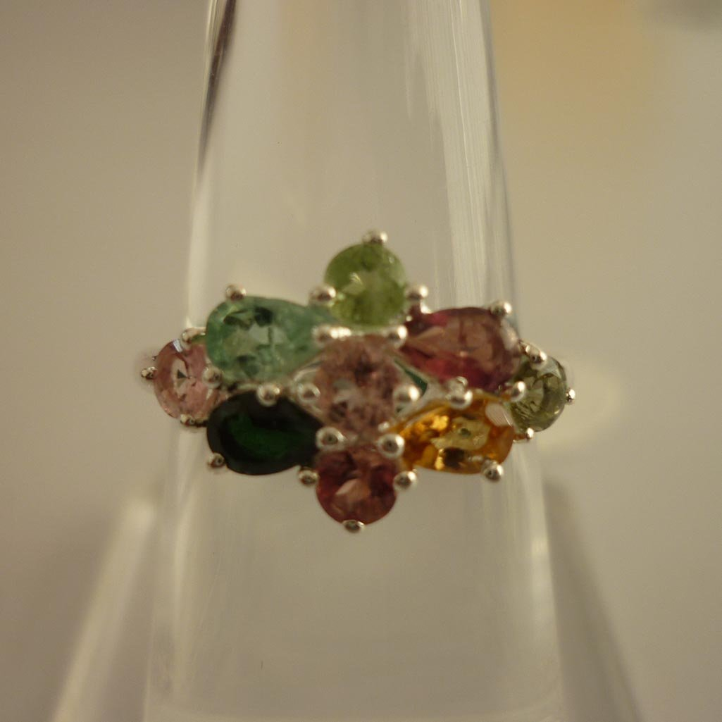 24.55 ctw.SEMIPRECIOUS RING .925 STERLING SILVER