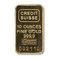 Gold Bars: Ten Ounce Gold Bar (manufacturer our choice)