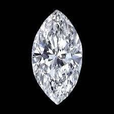 EGL CERT 0.75 CTW MARQUISE DIAMOND H/SI2