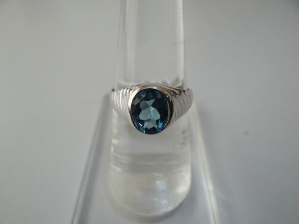 20.50 CTW BLUE TOPAZ RING .925 STERLING SILVER