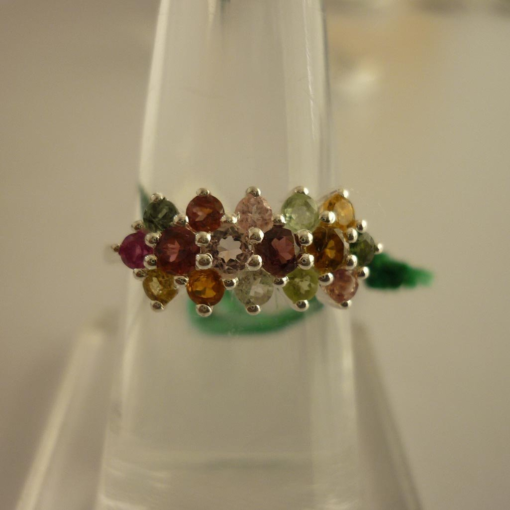 24.69 ctw,SEMIPRECIOUS RING .925 STERLING SILVER