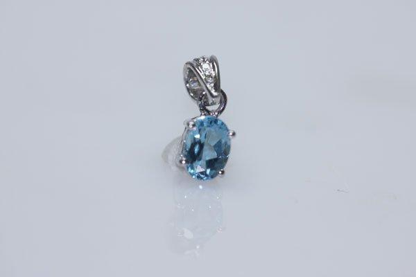 4.75 CTW BLUE TOPAZ PENDANT .925 STERLING SILVER