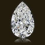 EGL CERT 0.69 CTW PEAR SHAPED DIAMOND I/VS2