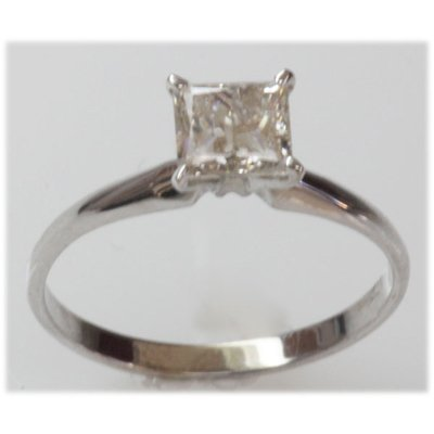 1.02 ct Diamond Princess Cut Ring J-K, SI3/I1