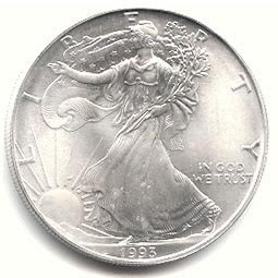 Uncirculated Silver Eagle 1993