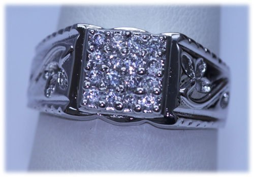 20.90 CTW CZ RING .925 STERLING SILVER