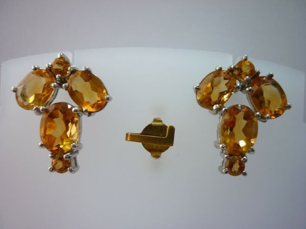 26.25 CTW CITRINE EARRING .925 STERLING SILVER