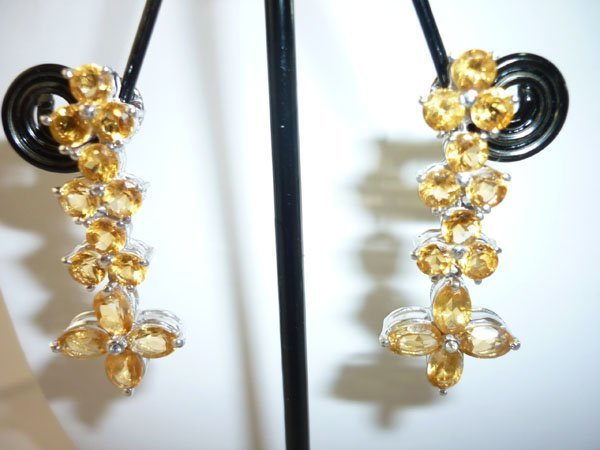 42.75 CTW CITRINE EARRING .925 STERLING SILVER
