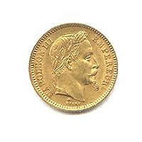 French 20 franc Napoleon III Gold Coin, 1853-1870
