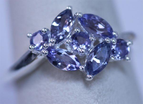 11.20 CTW TANZANITE RING .925 STERLING SILVER