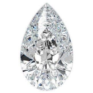 EGL CERT PEAR DIAMOND 0.79 CTW D/SI1