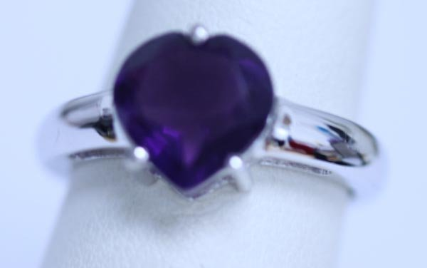 18.05 CTW AMETHYST RING .925 STERLING SILVER