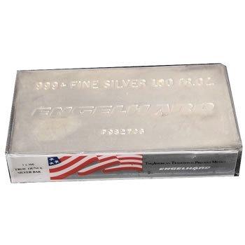 Silver Bars: Engelhard 100 oz Bar .999 fine