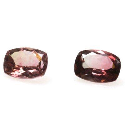 Natural 2.64ctw Bi-Color Tourmaline Cushion (2) Stone
