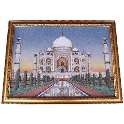 Gemstone Painting Tajmahal ( MADE BY REAL GEMS STONE )