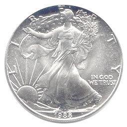 Uncirculated Silver Eagle 1988