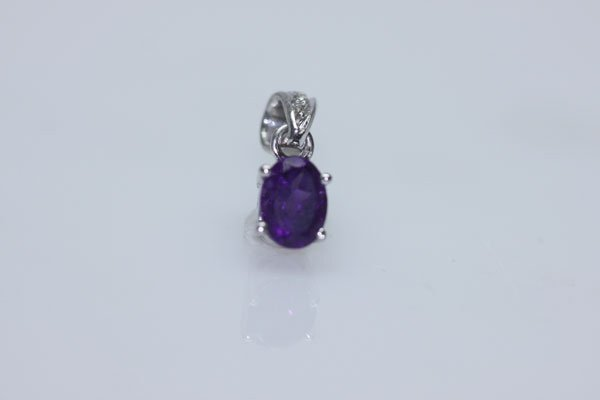 4.50 CTW AMETHYST PENDANT .925 STERLING SILVER