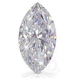 EGL CERT. 1.01 CTW DIAMOND MARQUISE D/SI2