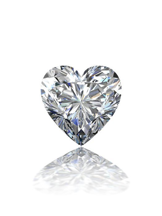 EGL CERT. HEART DIAMOND 2.08 CTW F/SI1
