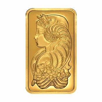 Gold Bars: 100 Gram Gold Bar PAMP Bar