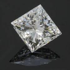 EGL CERT 0.53 CTW PRINCESS CUT DIAMOND I/SI1