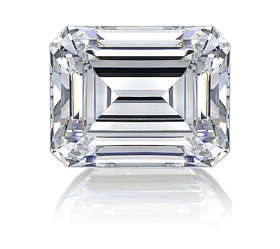 EGL CERT. EMERALD DIAMOND 0.50 CTW D/SI1