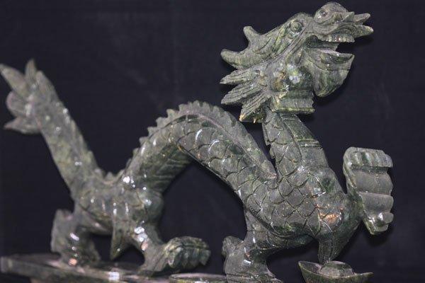 JADE CHINESE DRAGON FIGURINES