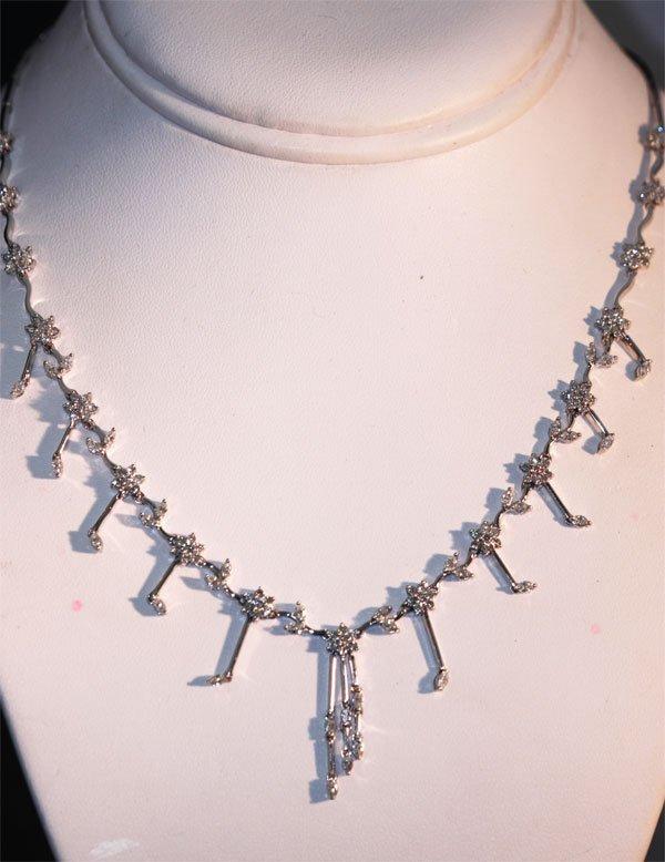 4.04 CTW DIAMOND 10K WHITE GOLD NECKLACE