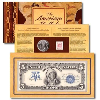 Coin & Currency Set American Buffalo 2001