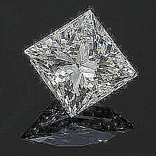 EGL CERT 1.02 CTW PRINCESS CUT DIAMOND D/SI2