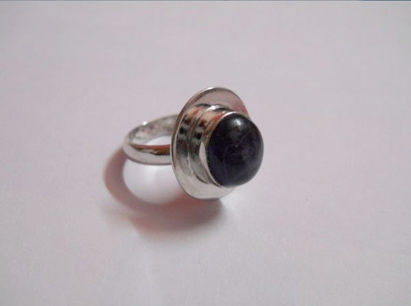 30.50 CTW SEMIPRECIOUS RING .925 STERLING SILVER