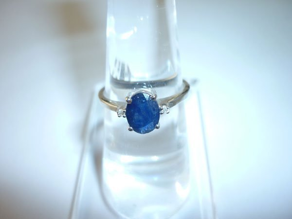 9.50 CTW SAPPHIRE RING .925 STERLING SILVER