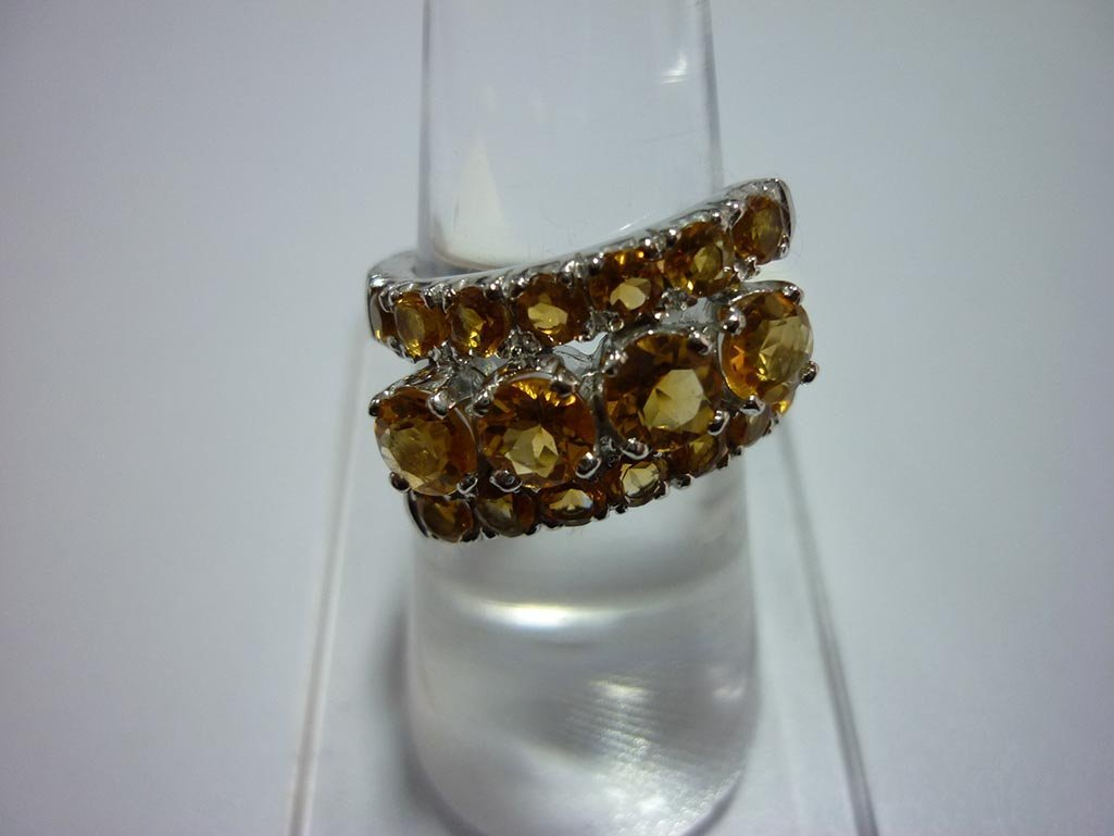 32.25 CTW CITRINE RING .925 STERLING SILVER