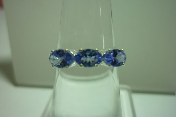 9.50 CTW TANZANITE ring .925 STERLING SILVER