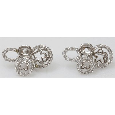 Natural 6.31g CZ Earrings .925 Sterling Silver
