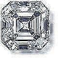 EGL CERT 0.7 CTW ASSCHER CUT DIAMOND F/SI1