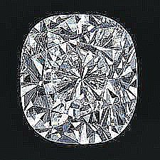 EGL CERT 0.52 CTW CUSHION DIAMOND H/SI1