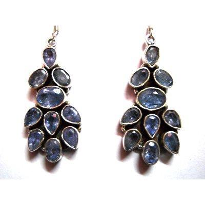 Natural 13.77g Tanzanite .925 Sterling Silver Earrings