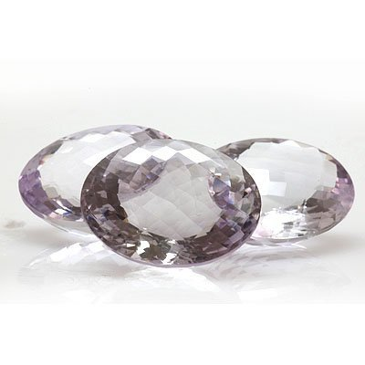 Natural Amethyst Checkered Oval cut 26x20mm 119.38ctw
