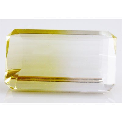 Natural Citrine Bi-color Emerald Cut 24x16mm 29.39ctw