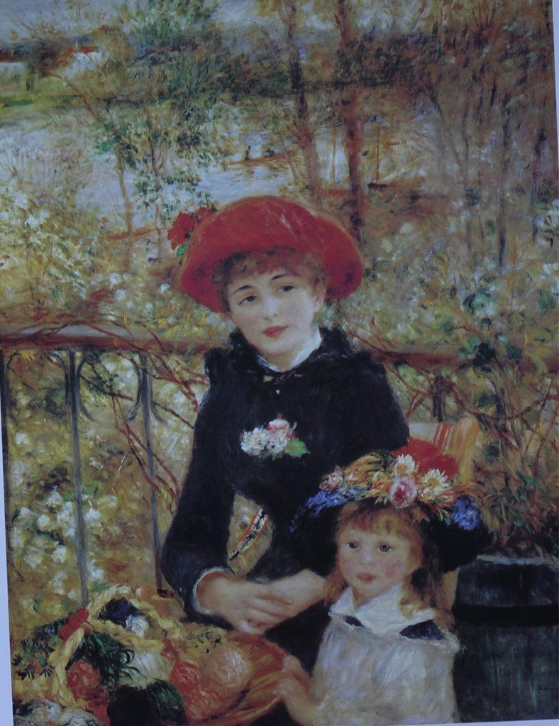 IMPRESSIONISM THE TWO SISTERS BY CLAUDE MONET