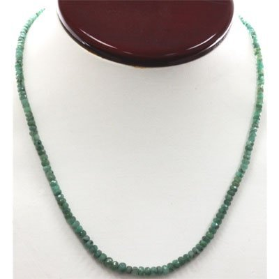 Natural Emerald Necklace 40.89ctw with brass clasp