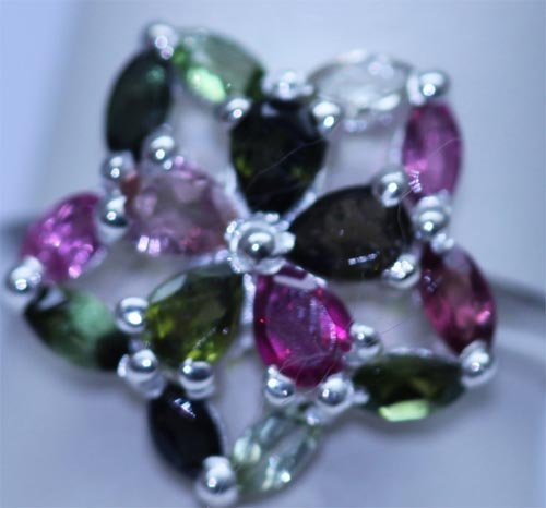 14.90 CTW SEMIPRECIOUS RING .925 STERLING SILVER
