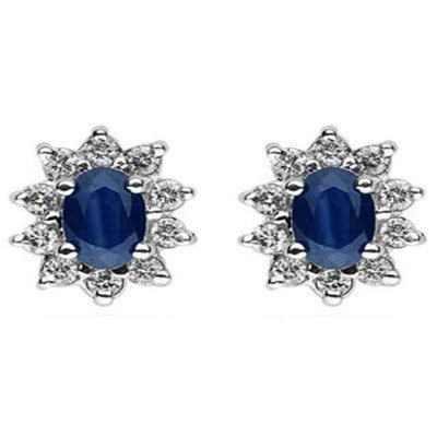 Genuine 2.00 ctw Sapphire Earring 14k 1.9g