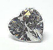 EGL CERT 0.9 CTW HEAR CUT DIAMOND D/VS2