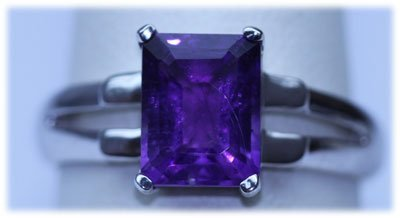 16.50 CTW AMETHYST RING .925 STERLING SILVER