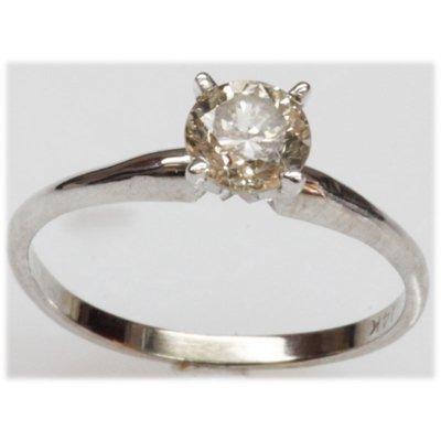 Certified 1.00ct 14K White Gold Diamond Ring J-K, VS1