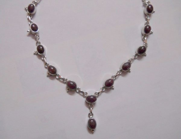 91.20 CTW RUBY NECKLACE .925 STERLING SILVER